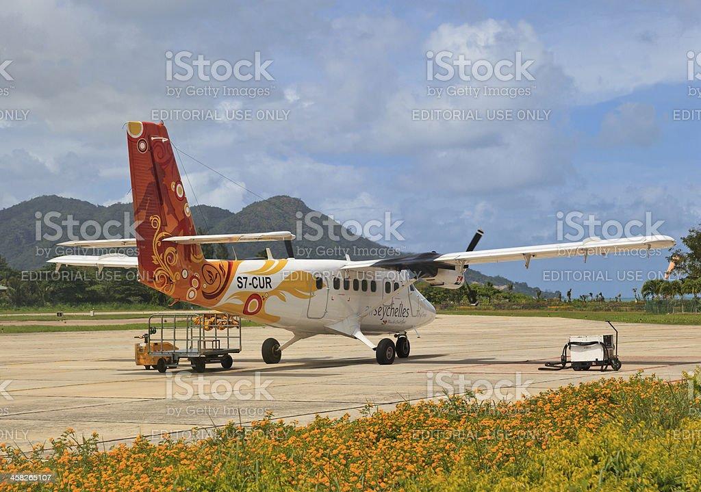 Air Seychelles Plane royalty-free stock photo