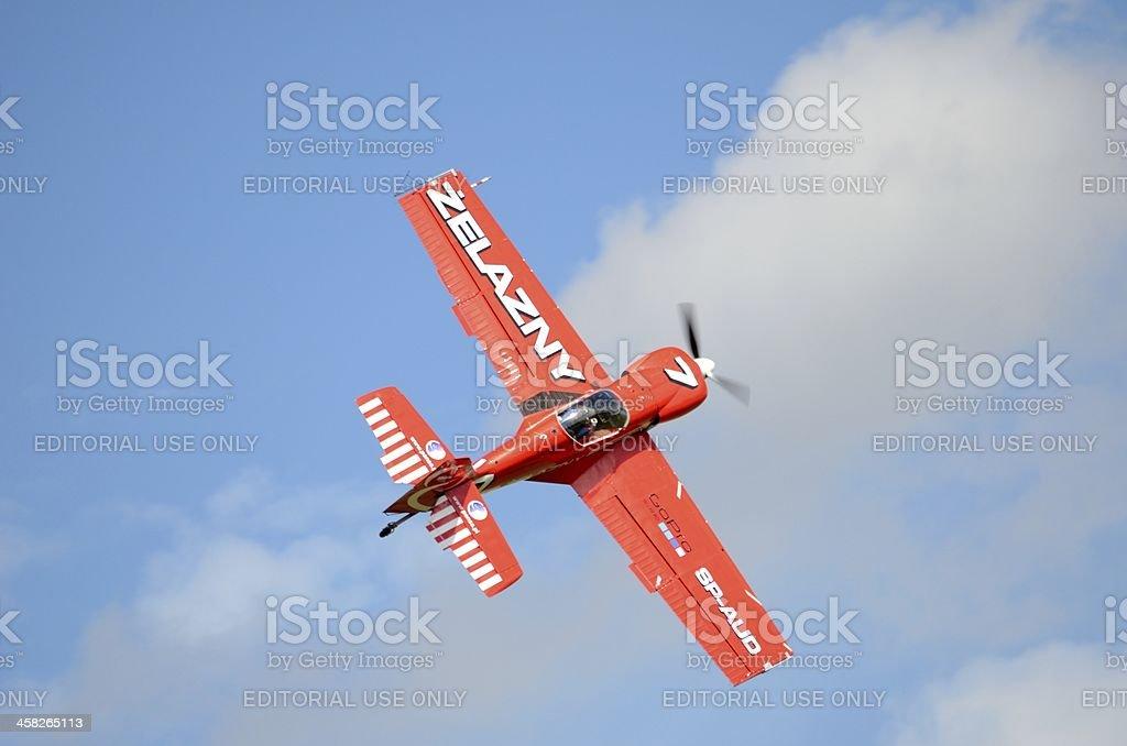 Air show - acrobatic plane royalty-free stock photo