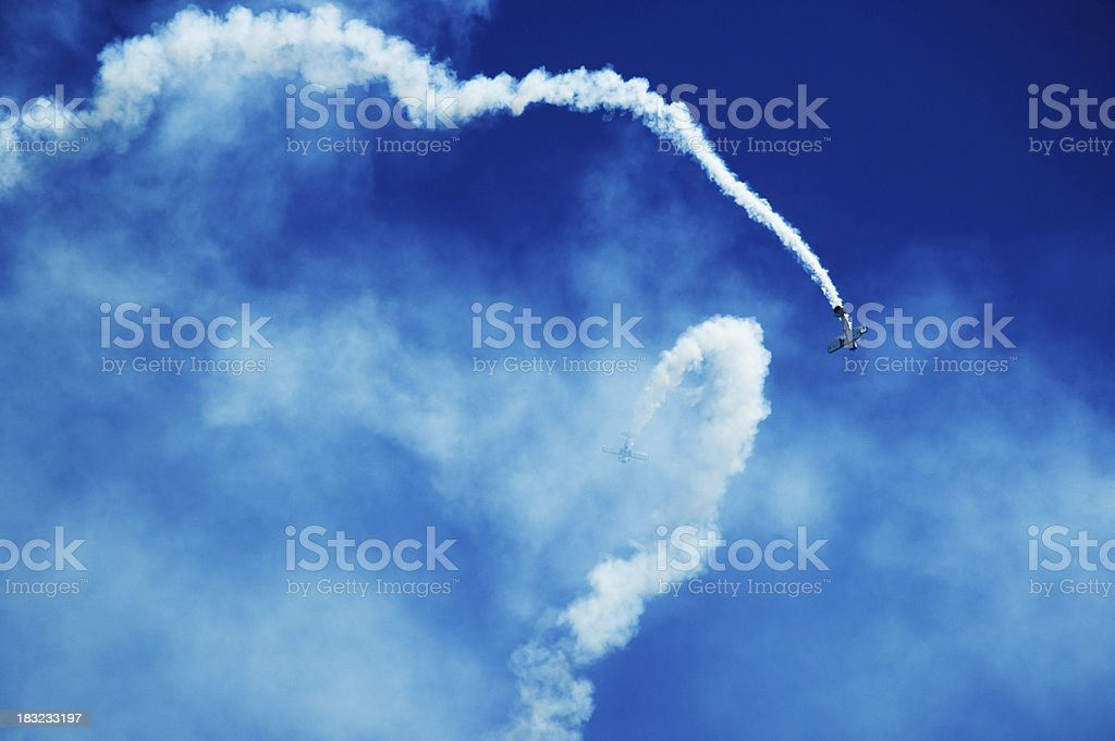 Air Show Acrobatics Out of Control royalty-free stock photo