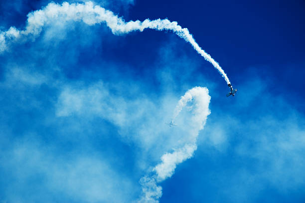 Air Show Acrobatics Out of Control stock photo