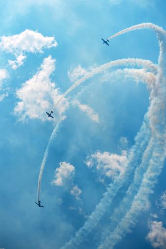 Prop passage during an air show.