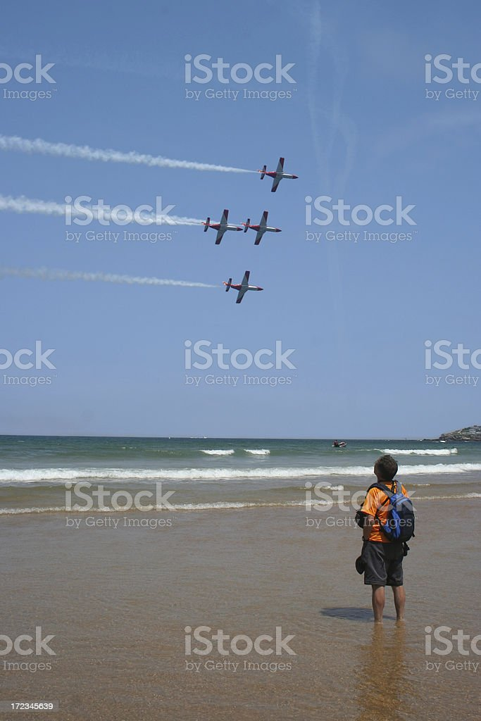 Air Show spectator royalty-free stock photo