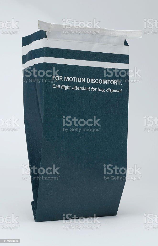 Air sickness bag stock photo