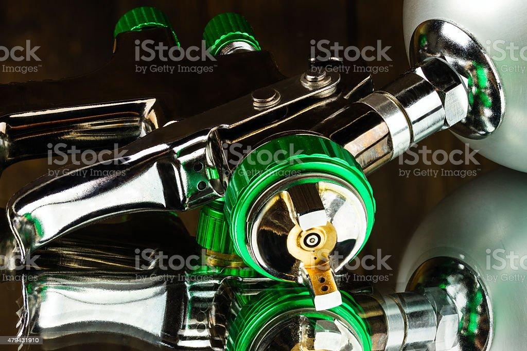 LVLP Air Spray Gun stock photo