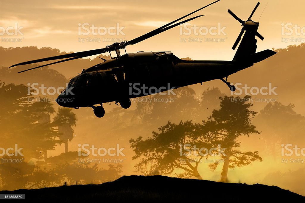 Air Support Army Helicopter royalty-free stock photo