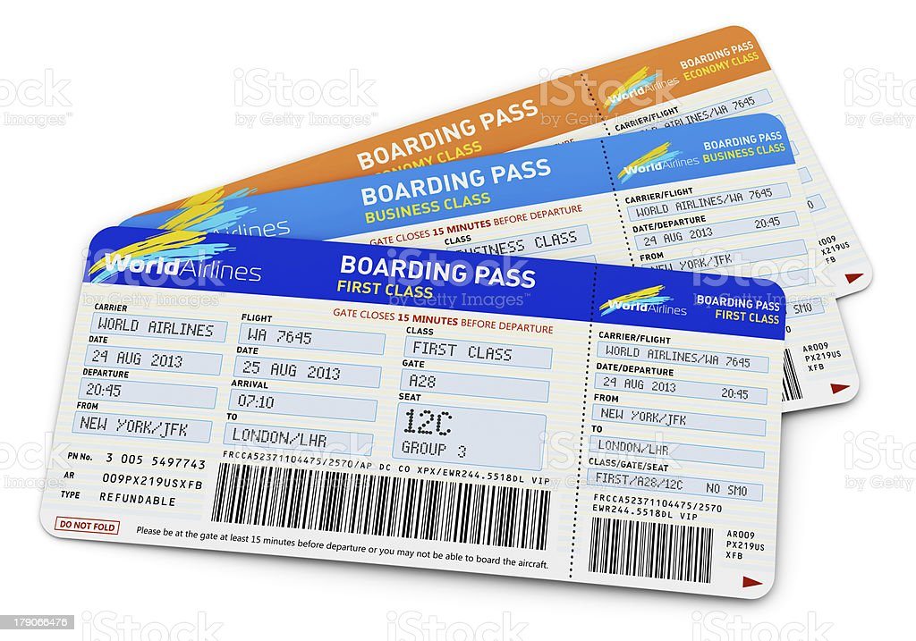 Air tickets royalty-free stock photo