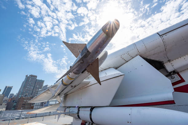Air to air missile New York City, USA. antiaircraft stock pictures, royalty-free photos & images
