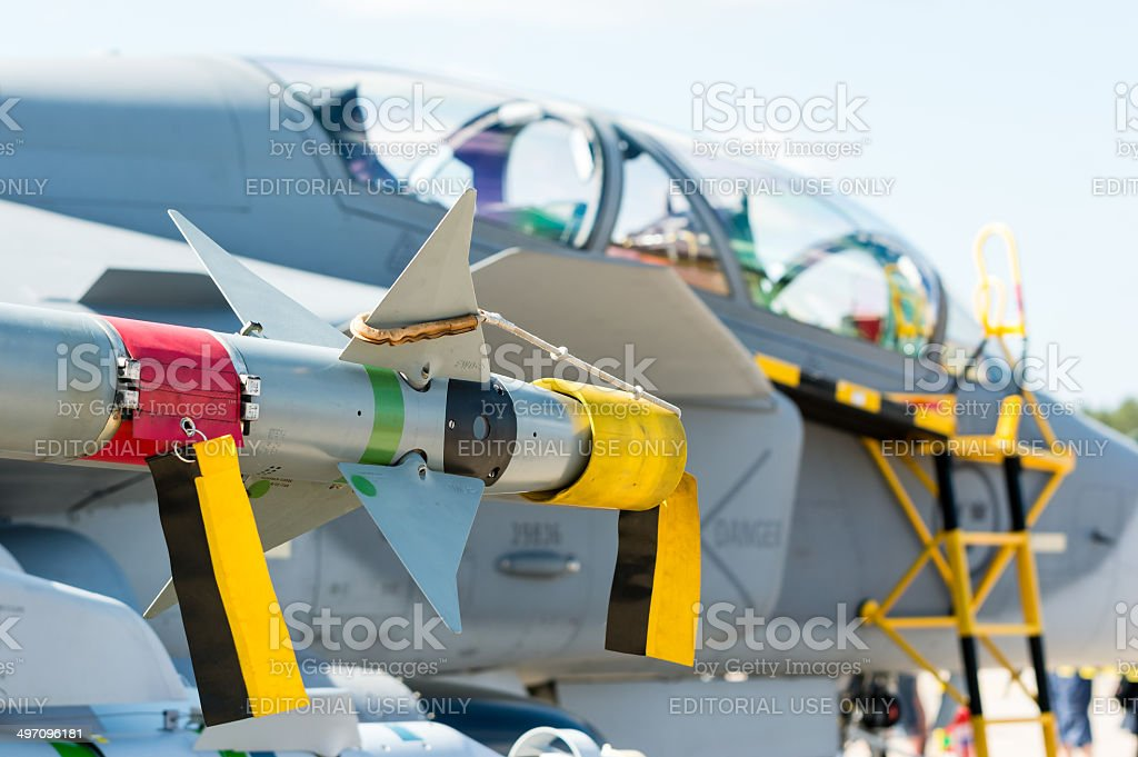Air to air missile stock photo