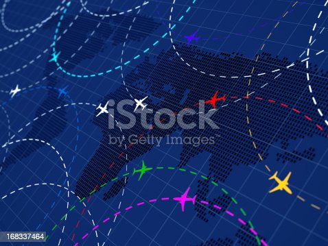 istock Air traffic colored 168337464