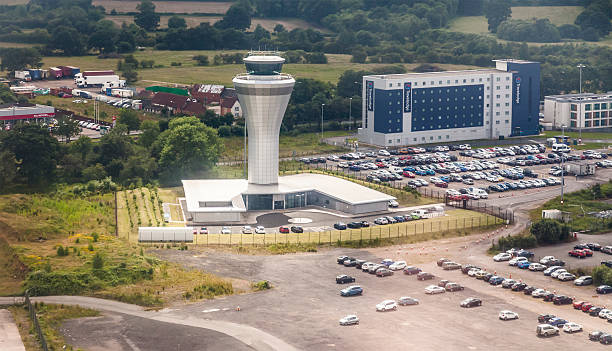 Air Traffic Control Tower and Travelodge; Birmingham Airport, England, UK