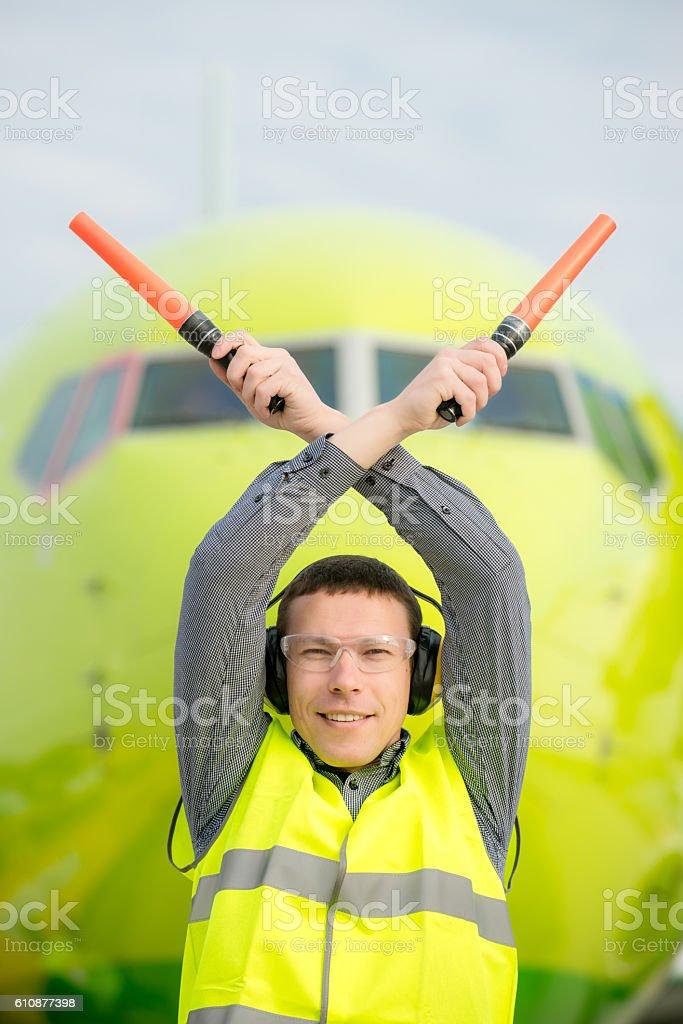 air traffic controller stock photo