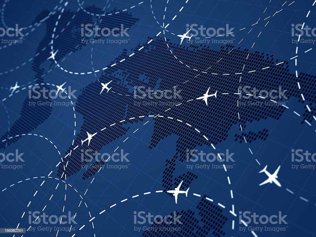 Air traffic stock photo