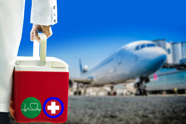 Air Transport of Organ Donation for Transplantation stock photo