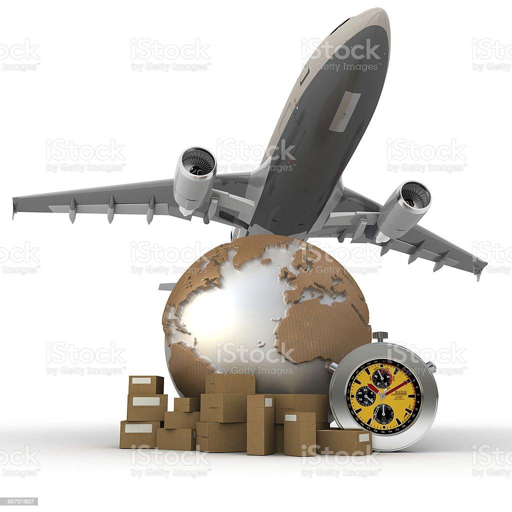 Air transportation stock photo