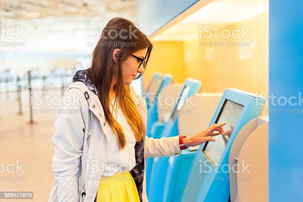 Air Travel Concept The Check In Process Stock Photo - Download Image Now