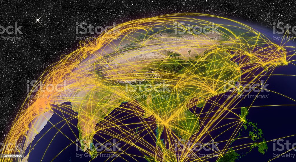 Air travel in East Asia stock photo
