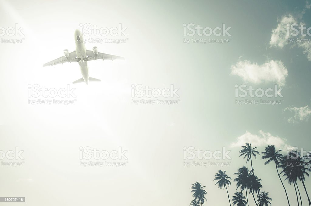 air travel in paradise royalty-free stock photo