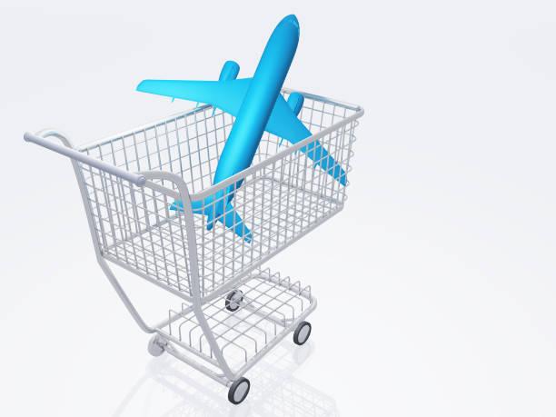 air travel shopping - billigflüge buchen stock-fotos und bilder