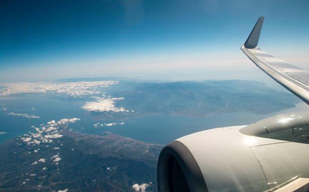 Air Travel View - foto stock