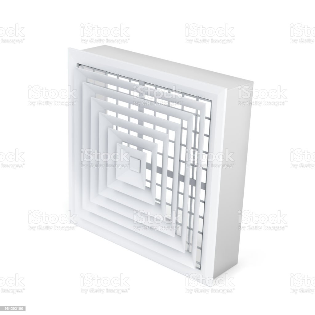 Air vent cover in square shape stock photo
