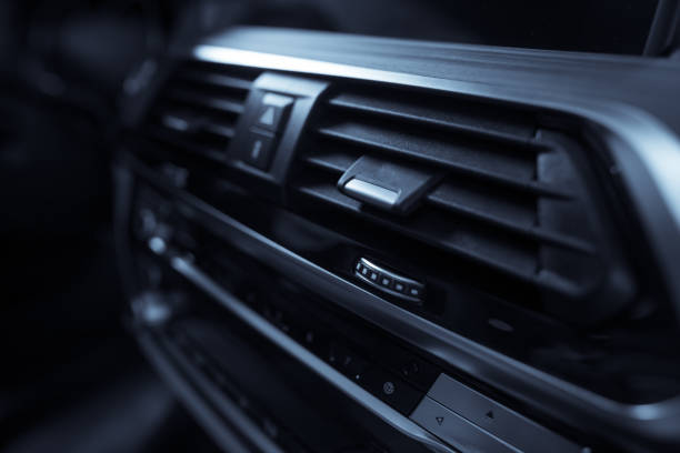 Air vent in car stock photo