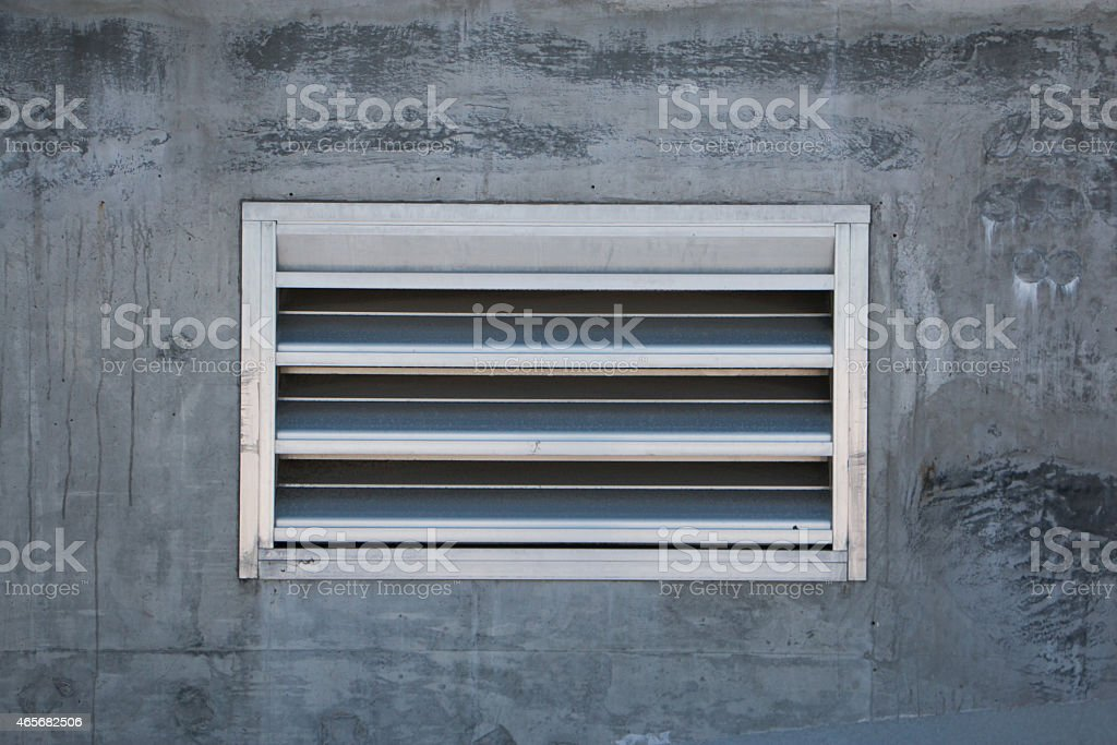 Air Vent in Concrete Wall stock photo