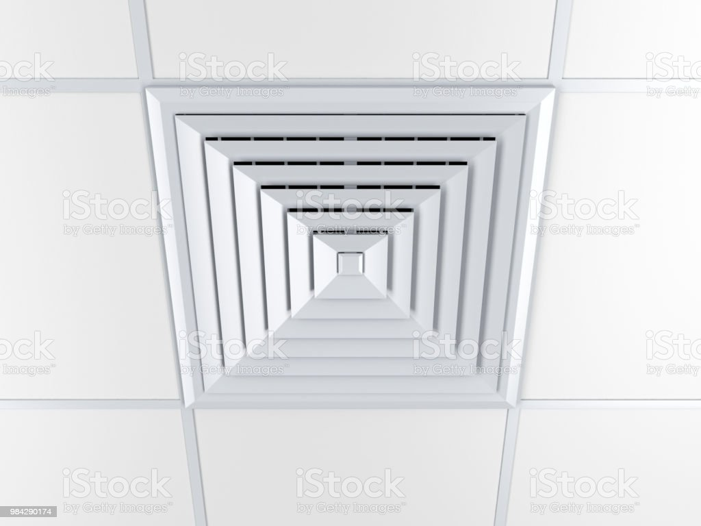 Air vent on a ceiling stock photo