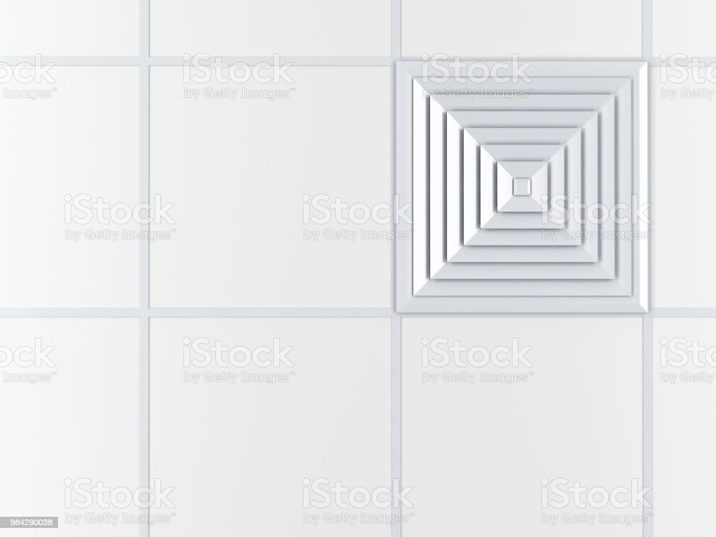 Air vent on the ceiling stock photo