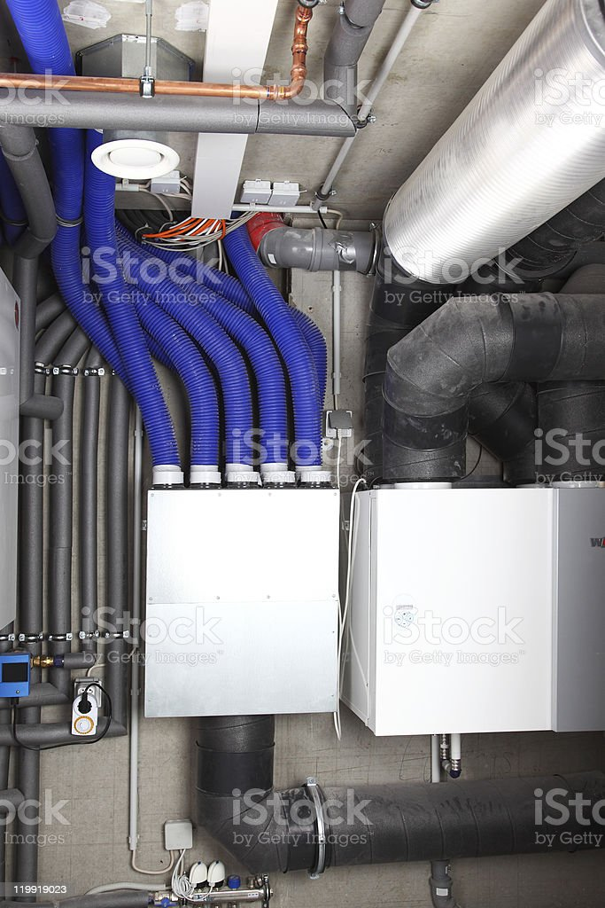 Air ventilation and heating system stock photo