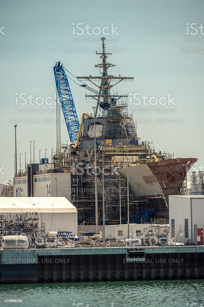ASC air warfare destroyer stock photo