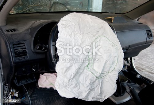 istock Airbag after an accident 105193044