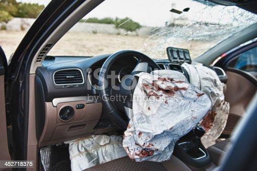 istock Airbag in car crash 452718375