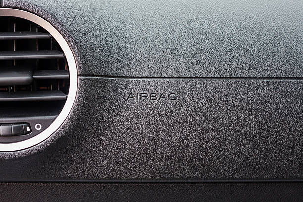 airbag sign in the car - dashboard vehicle part stock photos and pictures