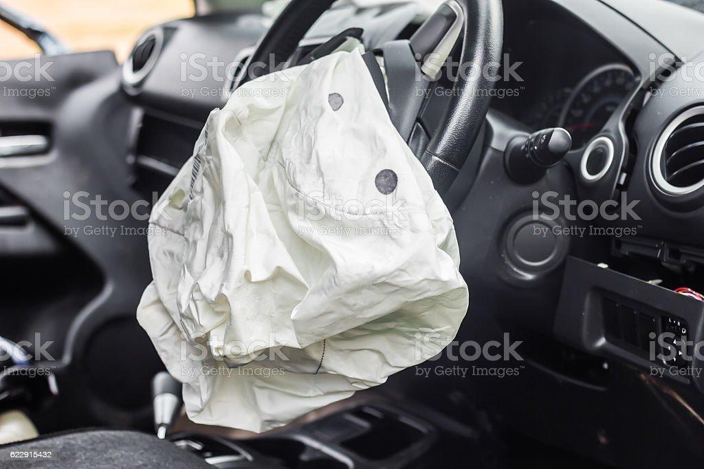 Airbag work - Foto de stock de Accidente de automóvil libre de derechos