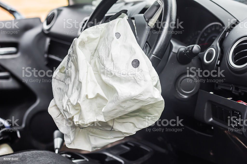 Airbag work stock photo