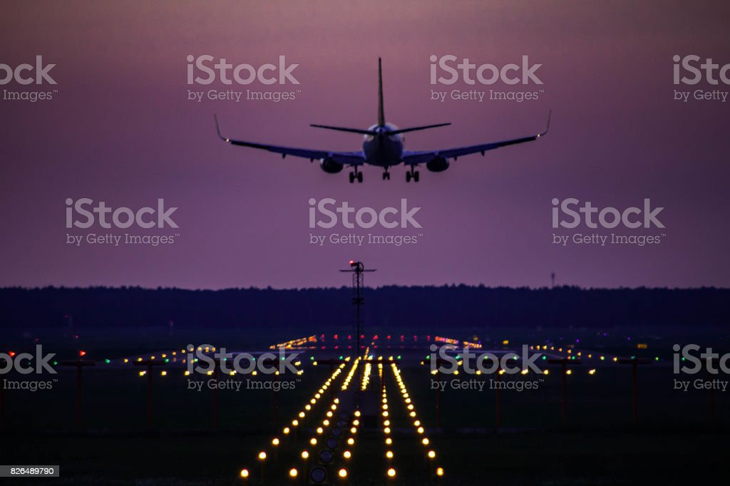 AirBaltic Boeing 737-300 landing stock photo