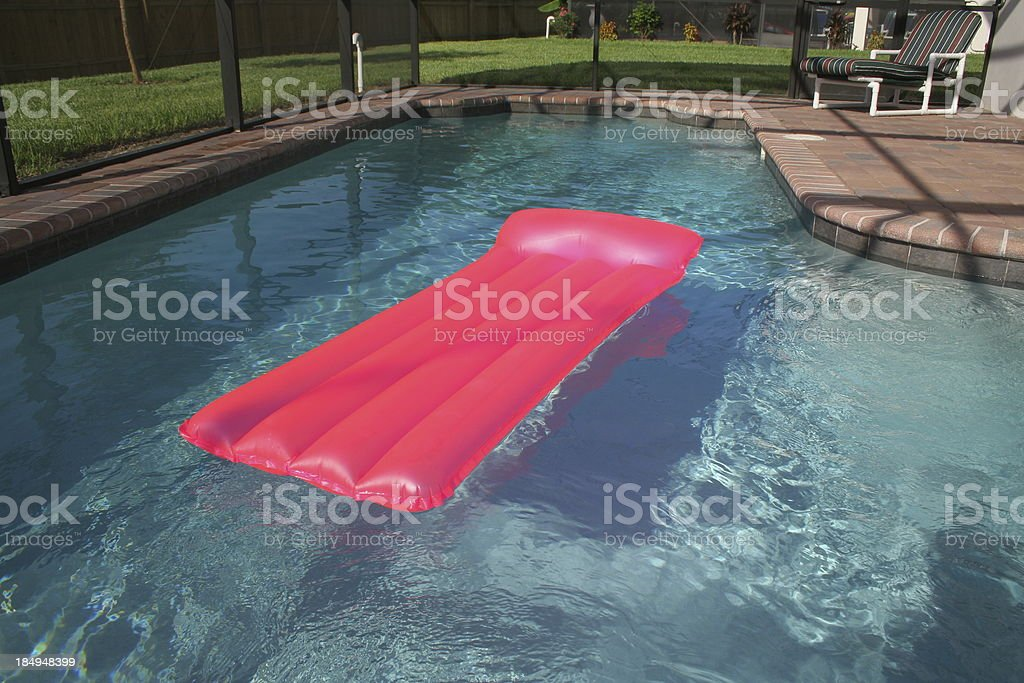 Airbed in Swimming Pool royalty-free stock photo