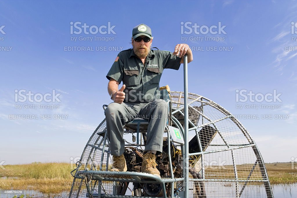 Airboat Captain stock photo