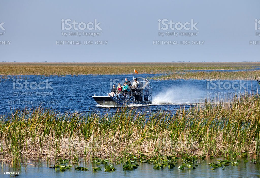 Airboat Ecotour - Sawgrass Recreation Park stock photo