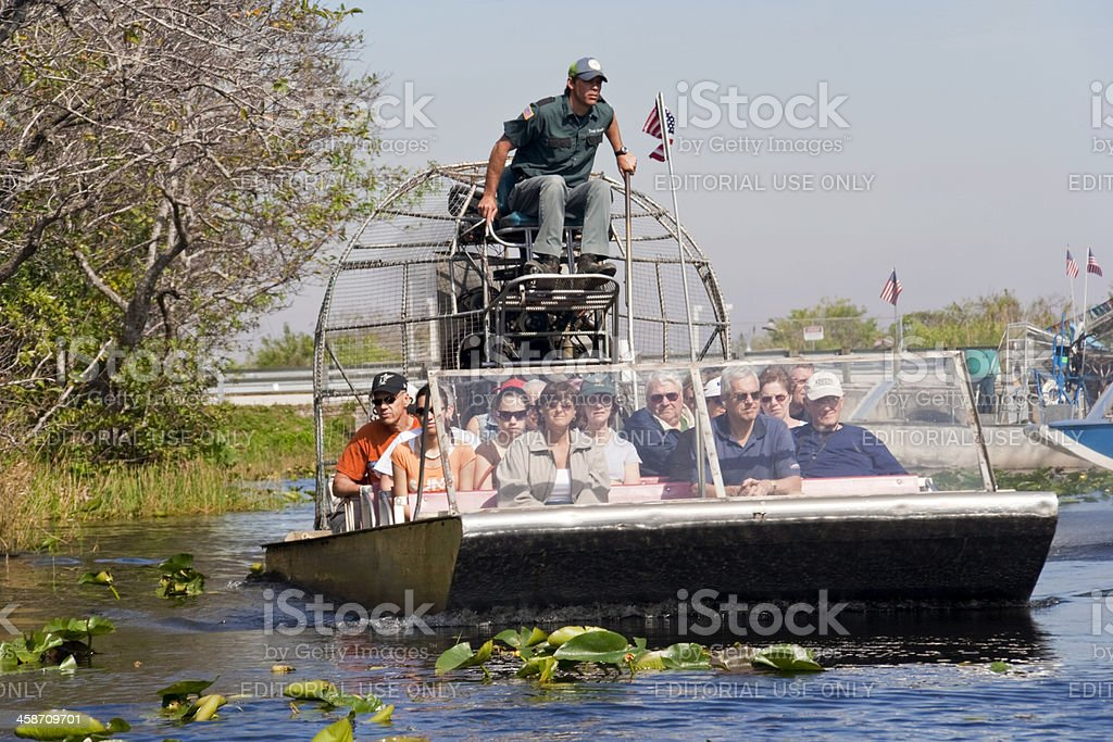 Airboat Ride stock photo