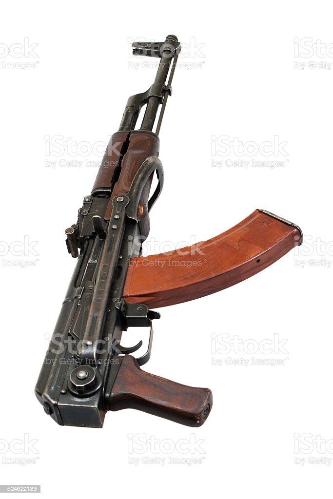 AKMS (Avtomat Kalashnikova) airborn version of Kalashnikov assau stock photo