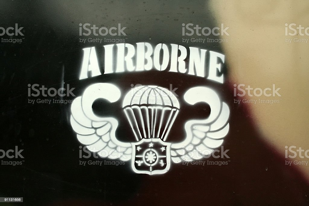 airborne forces insignia royalty-free stock photo
