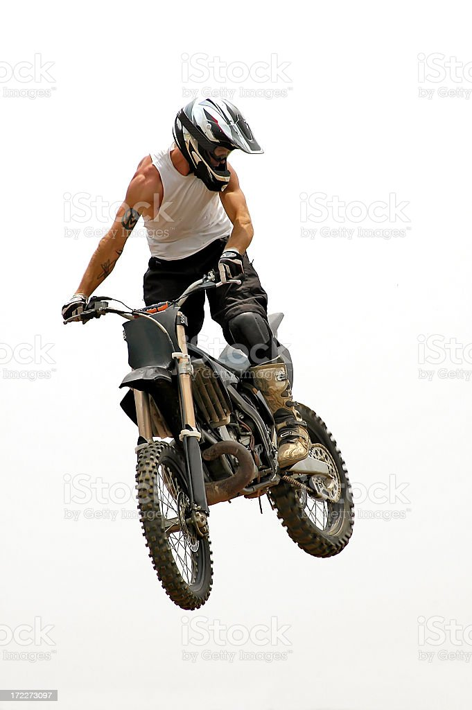Airborne Motorcycle royalty-free stock photo