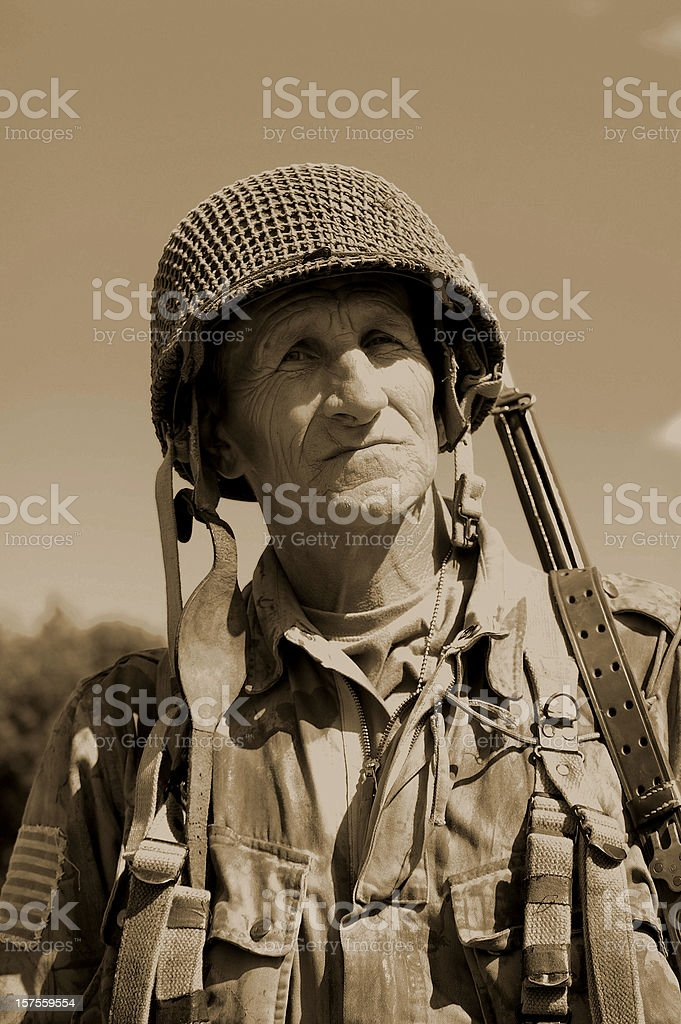 US Airborne Soldier. stock photo