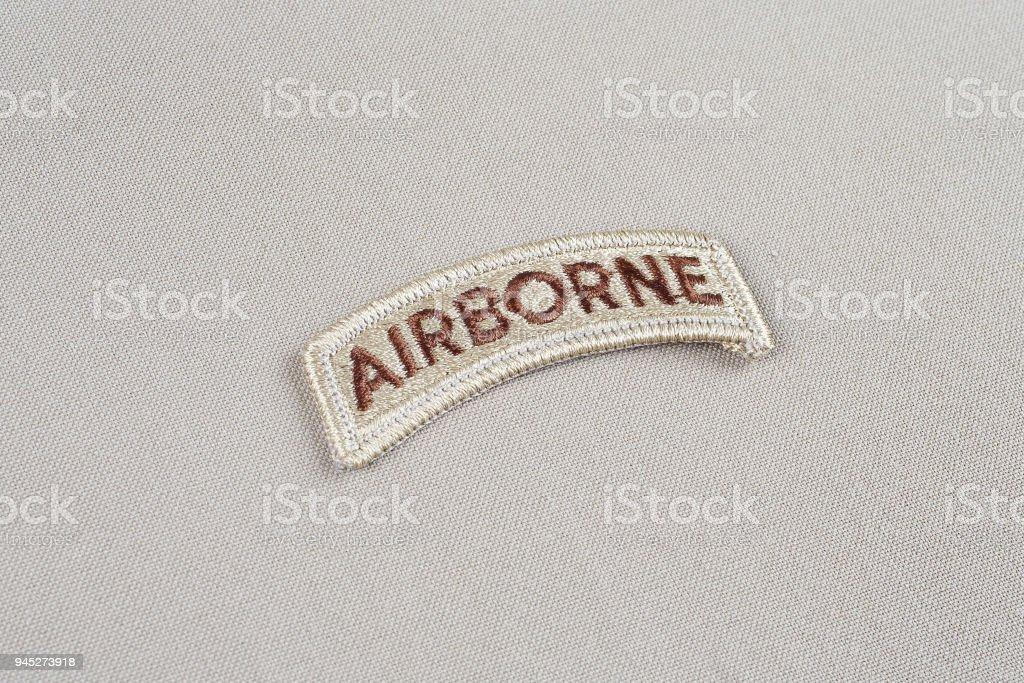 US ARMY airborne tab stock photo