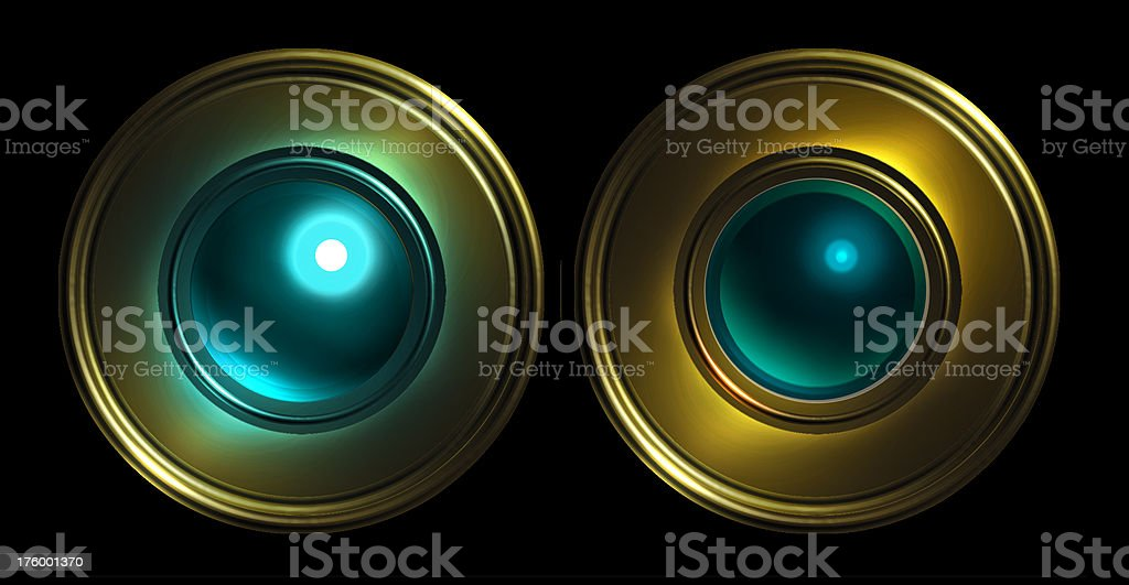 Airbrush - Button -ON | OFF- Blue stock photo
