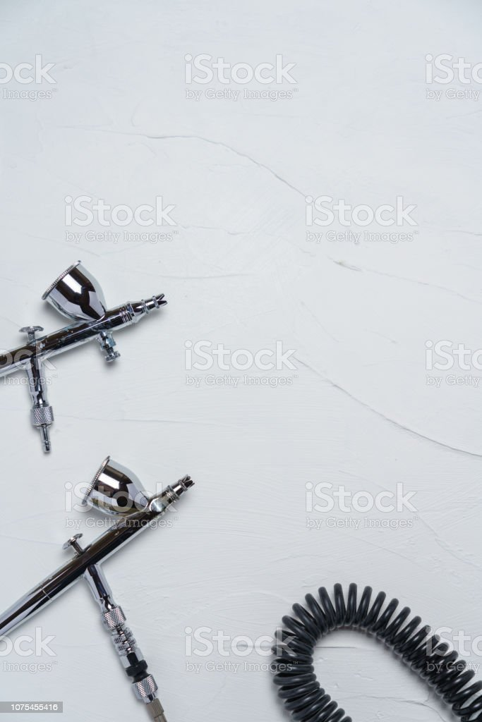 Airbrush for painting stock photo