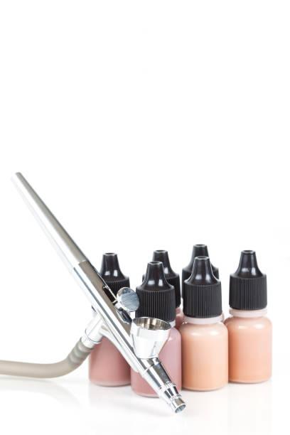 airbrush makeup - airbrush make up stock-fotos und bilder
