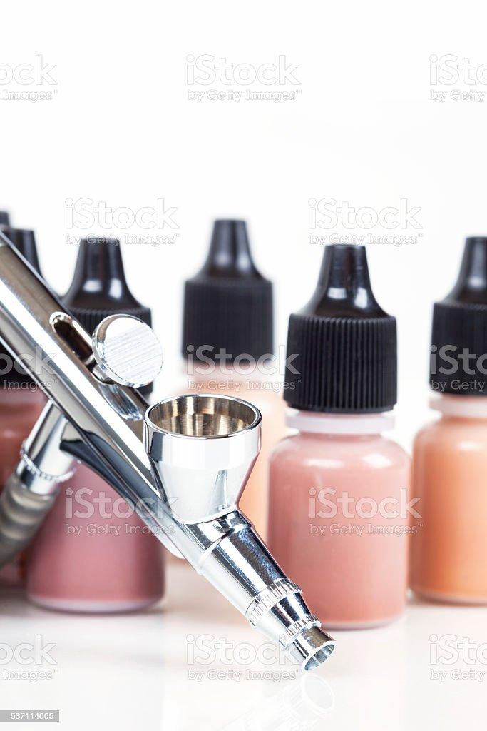 Airbrush Makeup stock photo