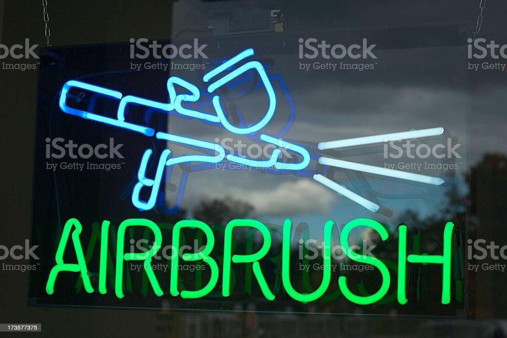 Airbrush Neon stock photo